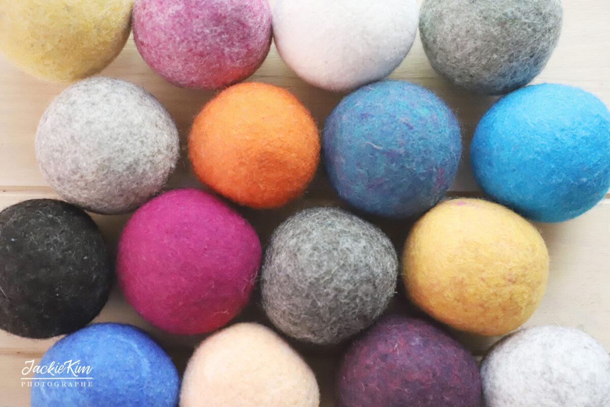 balles de séchage de toutes les couleurs
