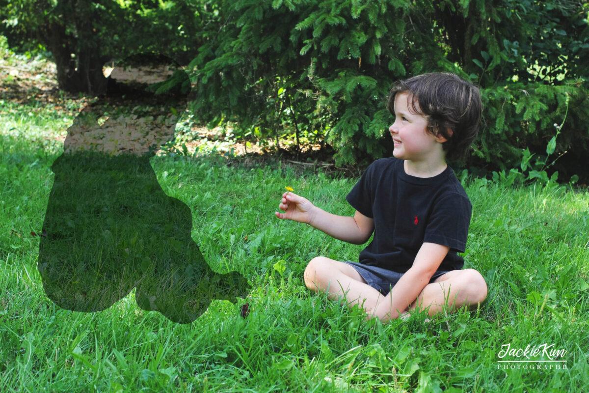 photographie pour jeune garçon ayant perdue sa jumelle